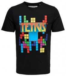ONLY&SONS Pánské triko Luke Tetris Fitted Ss Tee Black M