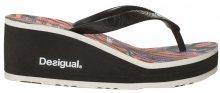 Desigual Dámské žabky Shoes Lola Mexican Negro 19SSHF19 2000 36
