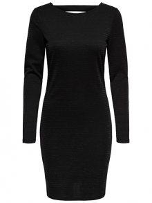 ONLY Dámské šaty Glitter L/S Short Dress Exp Black Lurex M