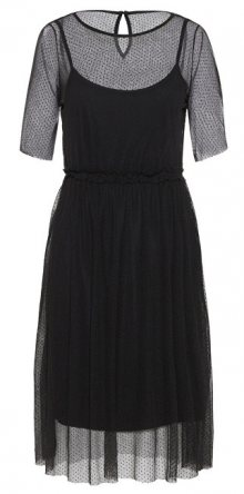 Vero Moda Dámské šaty Linna 2/4 Blk Dress Jrs Black XS