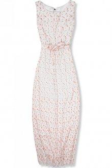 Bílé květinové maxi šaty
