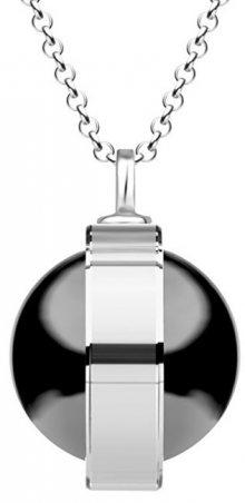 Preciosa Unikátní stříbrný náhrdelník Singularis Hematit 6116 48 (řetízek, přívěsek)