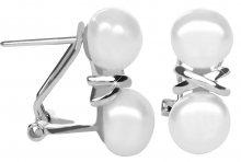 JwL Luxury Pearls Stříbrné náušnice s pravými perlami JL0394