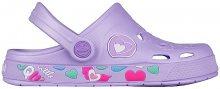Coqui Dětské pantofle Froggy Lt. Lila Hearts 8802-402-0202 26-27