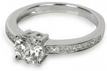 Silver Cat Stříbrný prsten s krystaly SC031 58 mm