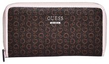 Guess Dámská peněženka Factory Women`s Gilmore Logo Zip-Around Wallet Natural Multi