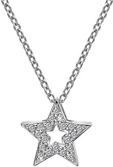 Hot Diamonds Stříbrný náhrdelník s hvězdičkou Micro Bliss DP697 (řetízek, přívěsek)