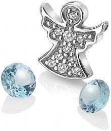 Hot Diamonds Stříbrný element andělíček s modrými topazy Anais AC104