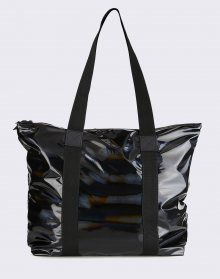Rains Holographic Tote Bag Rush 25 Holographic Black
