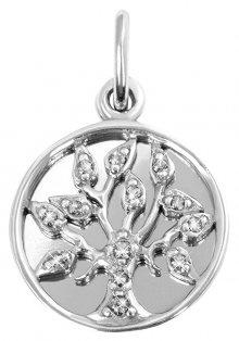 Brilio Silver Stříbrný přívěsek Strom života 446 001 00381 04 - čirý - 1,85 g