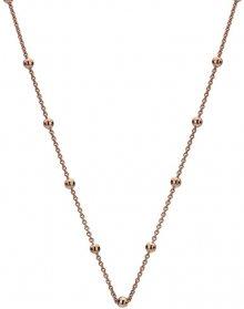 Hot Diamonds Růžově pozlacený stříbrný řetízek Emozioni CH051