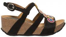 Desigual Dámské sandále Shoes Odisea Flower Beads Negro 19SSHF02 2000 36