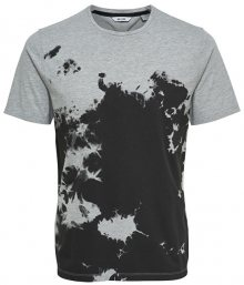 ONLY&SONS Pánské triko Holger Bleach Tee Light Grey Melange M