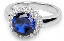 Silver Cat Stříbrný prsten s krystaly SC022 58 mm