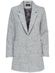 ONLY Dámský kabát Baker Marble Long Blazer Otw Light Grey Melange L
