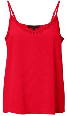 Vero Moda Dámské tílko Sasha Lacey Singlet Color Chinese Red XS