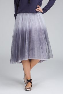 Deha šedá tylová sukně  - XL