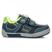 Sportovní modré dětské boty na suchý zip
