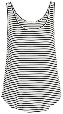 Pieces Dámské tílko Billo Tank Top Noos Bright White Black XS