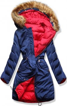 MODOVO Dámská zimní bunda s kapucí A5 modro-červená