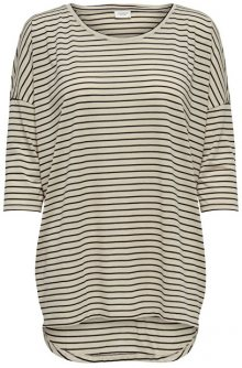 Jacqueline de Yong Dámské triko Cathy 3/4 Oversize Top Jrs Sandshell XS