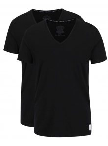 Sada dvou pánských trik pod košili v černé barvě Calvin Klein
