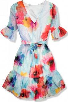 Květinové šaty s volány Mila