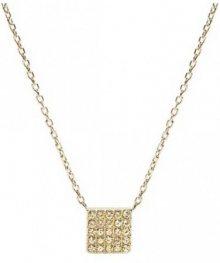 Fossil Zlatý náhrdelník s přívěskem JF02263710