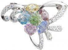 Preciosa Stříbrná brož Romance Combi 6638 70