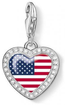 Thomas Sabo Stříbrný přívěsek Americké srdce 1142-628-7