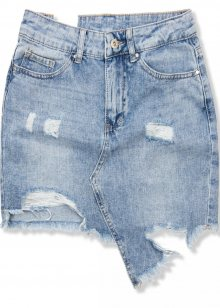 Světle modrá jeans sukně