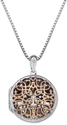 Hot Diamonds Přívěsek Hot Diamonds Small Circle Filigree Locket RG DP668