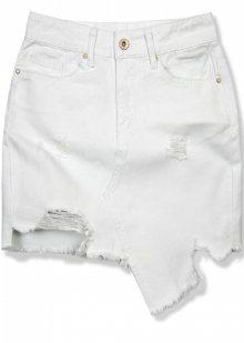 Bílá jeans sukně