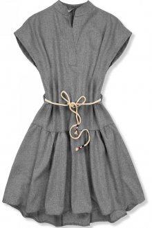 Šedé šaty v basic stylu