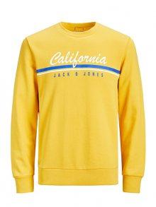 Jack&Jones Pánská mikina Jorretro Cali Sweat Crew Neck Yol Yellow Reg M