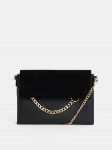 Černá crossbody kabelka s detailem v semišové úpravě Dorothy Perkins
