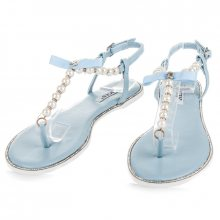 Neodolatelné modré sandály s perličkami