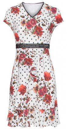 Smashed Lemon Dámské šaty 19334 Black White/Red XS