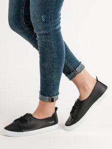Pohodlné černé  tenisky dámské bez podpatku