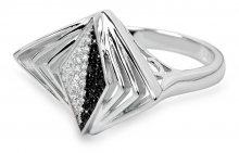 Silver Cat Stříbrný prsten s krystaly SC049 54 mm