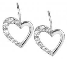 Brilio Silver Stříbrné náušnice Srdce 436 001 00405 04