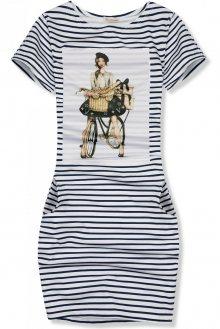 Modro-bílé pruhované šaty FRENCH GIRL III.
