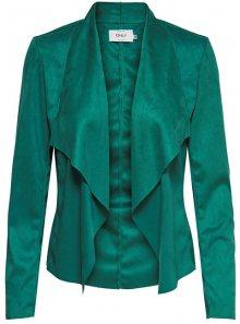 ONLY Dámské sako Fleur Drapy Faux Suede Jacket Cadmium Green 36
