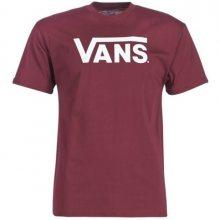 VANS Pánské triko Vans Classic Burgundy/White VN000GGGZ281 XL