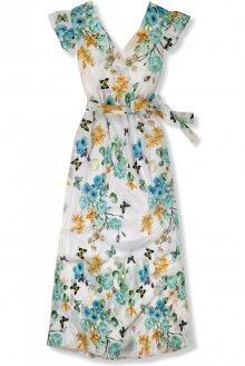 Maxi šaty s motivem květin a motýlů