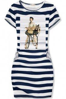 Modro-bílé pruhované šaty FRENCH GIRL X.