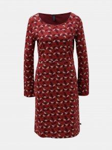 Červené vzorované šaty s rozparkem na rukávech Tranquillo Hemera