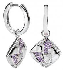 Silver Cat Stříbrné náušnice s krystaly SC060