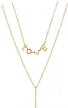 Troli Dvojitý pozlacený náhrdelník Love