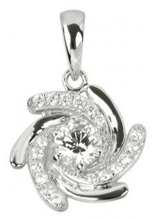 Silver Cat Stříbrný přívěsek s krystaly SC041